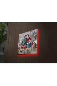 Tablou din panza, cu lumina LED Ledda ASR-254LED4255 Multicolor