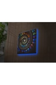 Tablou din panza, cu lumina LED Ledda ASR-254LED4256 Multicolor