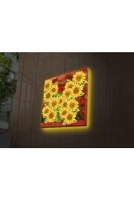 Tablou din panza, cu lumina LED Ledda ASR-254LED4258 Multicolor