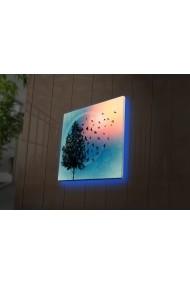Tablou din panza, cu lumina LED Ledda ASR-254LED4261 Multicolor