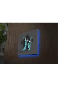 Tablou din panza, cu lumina LED Ledda ASR-254LED4262 Multicolor