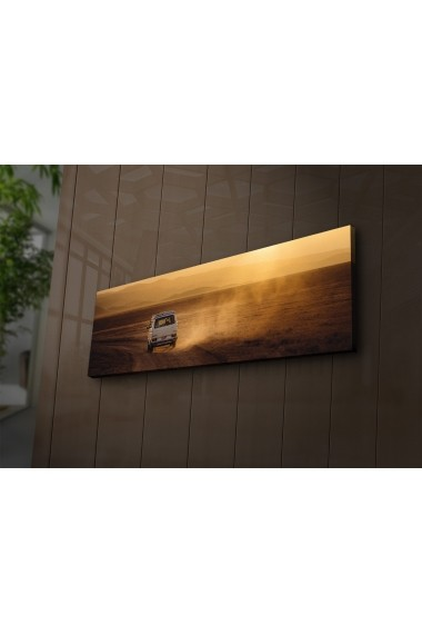 Tablou din panza, cu lumina LED Ledda ASR-254LED1201 Multicolor