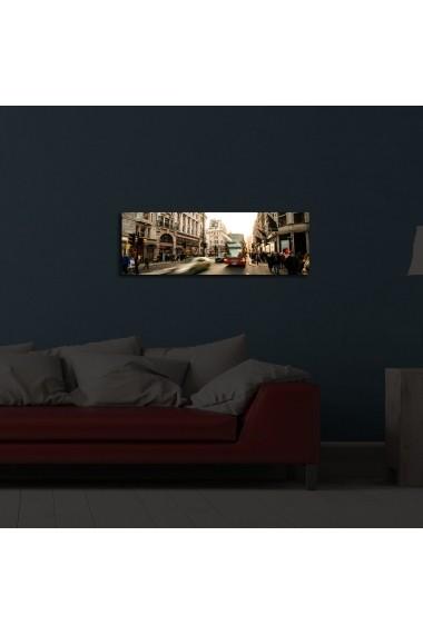 Tablou din panza, cu lumina LED Ledda ASR-254LED1218 Multicolor