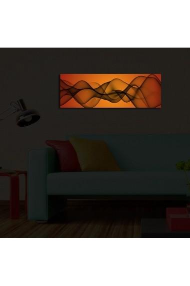 Tablou din panza, cu lumina LED Ledda ASR-254LED1225 Multicolor