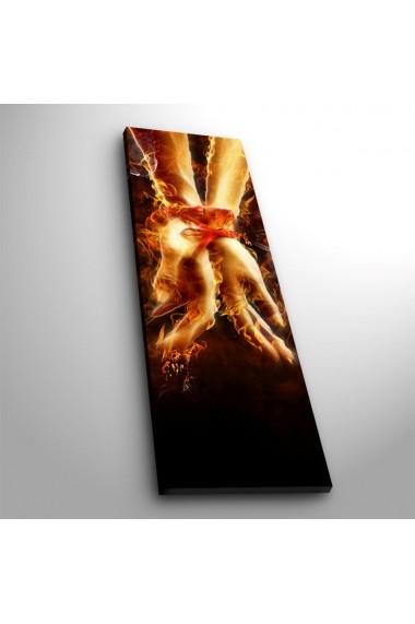 Tablou din panza, cu lumina LED Ledda ASR-254LED3251 Multicolor