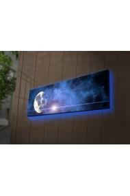 Tablou din panza, cu lumina LED Ledda ASR-254LED3252 Multicolor - els