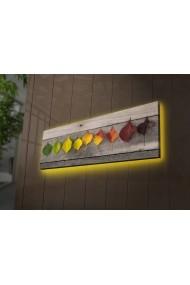 Tablou din panza, cu lumina LED Ledda ASR-254LED3253 Multicolor