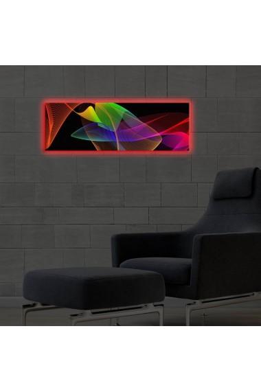Tablou din panza, cu lumina LED Ledda ASR-254LED3258 Multicolor