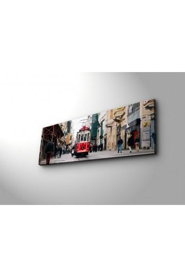 Tablou din panza, cu lumina LED Ledda ASR-254LED3261 Multicolor