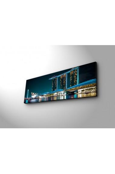 Tablou din panza, cu lumina LED Ledda ASR-254LED3264 Multicolor
