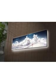 Tablou din panza, cu lumina LED Ledda ASR-254LED3268 Multicolor