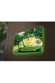 Tablou din panza, cu lumina LED Ledda ASR-254LED3275 Multicolor