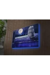 Tablou din panza, cu lumina LED Ledda ASR-254LED3291 Multicolor - els