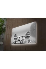 Tablou din panza, cu lumina LED Ledda ASR-254LED3292 Multicolor