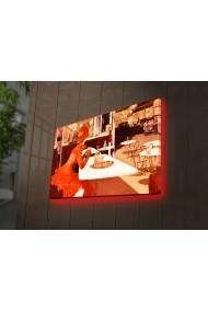 Tablou din panza, cu lumina LED Ledda ASR-254LED3293 Multicolor
