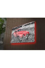 Tablou din panza, cu lumina LED Ledda ASR-254LED3295 Multicolor