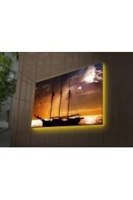 Tablou din panza, cu lumina LED Ledda ASR-254LED3299 Multicolor