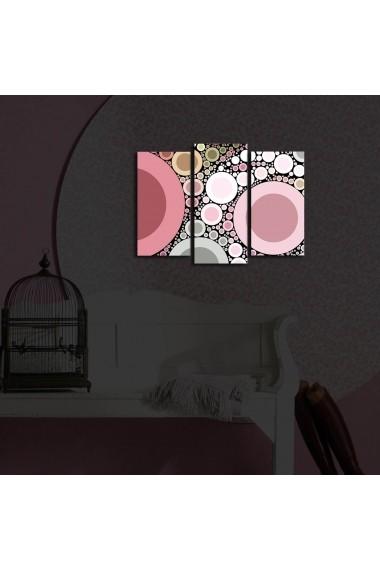 Tablou din panza, cu lumina LED(3 articole) Ledda ASR-254LED3232 Multicolor