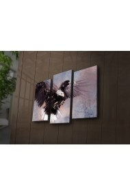 Tablou din panza, cu lumina LED(3 articole) Ledda ASR-254LED3233 Multicolor