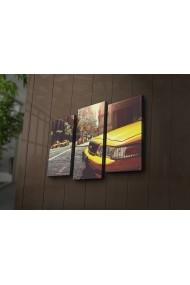 Tablou din panza, cu lumina LED(3 articole) Ledda ASR-254LED3240 Multicolor