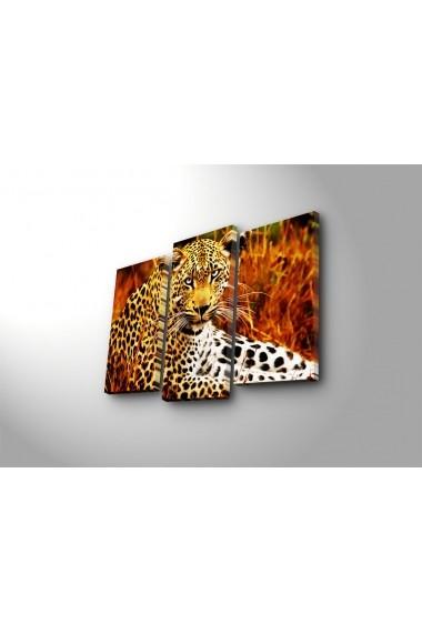 Tablou din panza, cu lumina LED(3 articole) Ledda ASR-254LED3242 Multicolor
