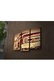 Tablou din panza, cu lumina LED(3 articole) Ledda ASR-254LED3245 Multicolor