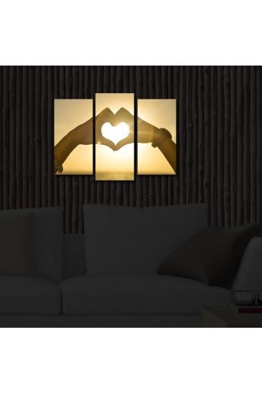 Tablou din panza, cu lumina LED(3 articole) Ledda ASR-254LED3227 Multicolor - els