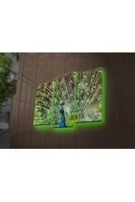 Tablou din panza, cu lumina LED(3 articole) Ledda ASR-254LED4265 Multicolor