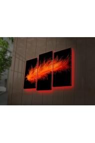 Tablou din panza, cu lumina LED(3 articole) Ledda ASR-254LED4273 Multicolor
