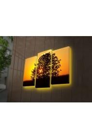 Tablou din panza, cu lumina LED(3 articole) Ledda ASR-254LED4276 Multicolor