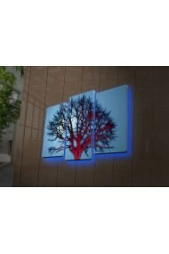 Tablou din panza, cu lumina LED(3 articole) Ledda ASR-254LED4279 Multicolor