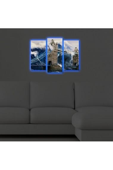 Tablou din panza, cu lumina LED(3 articole) Ledda ASR-254LED4284 Multicolor