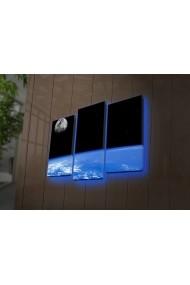 Tablou din panza, cu lumina LED(3 articole) Ledda ASR-254LED4287 Multicolor