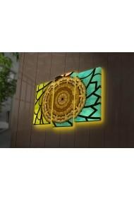 Tablou din panza, cu lumina LED(3 articole) Ledda ASR-254LED4291 Multicolor