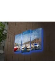 Tablou din panza, cu lumina LED(3 articole) Ledda ASR-254LED4294 Multicolor