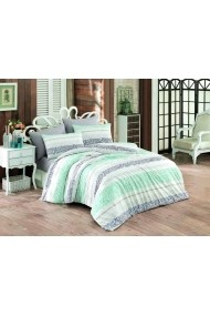 Set lenjerie de pat single Majoli Bedlinen ASR-110BHR2777 Multicolor