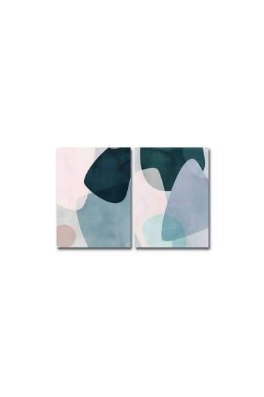 Tablou decorativ (2 bucati) Canvart 249CVT1393 multicolor