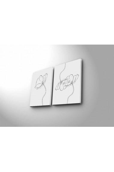 Tablou decorativ (2 bucati) Canvart 249CVT1394 multicolor