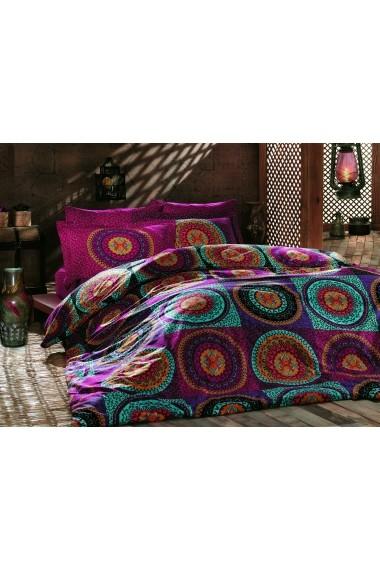 Set lenjerie de pat single Turkiz 182TRK2120 Multicolor