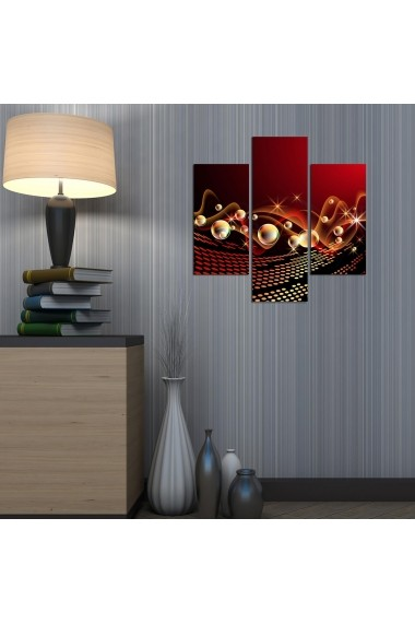 Tablou decorativ (3 bucati) Three Art 251TRE1900 multicolor