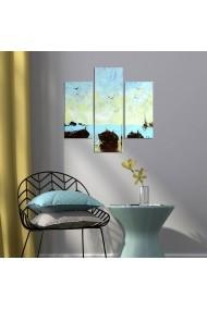 Tablou decorativ (3 bucati) Three Art 251TRE1919 multicolor