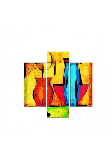 Tablou decorativ (3 bucati) Three Art 251TRE1922 multicolor