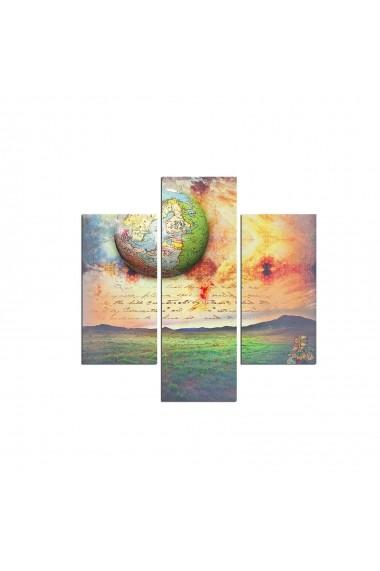 Tablou decorativ (3 bucati) Three Art 251TRE1947 multicolor