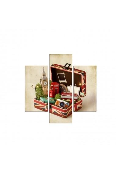 Tablou decorativ (3 bucati) Three Art 251TRE1979 multicolor