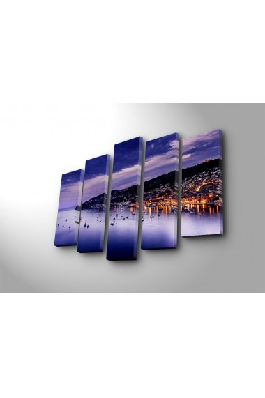 Tablou decorativ (5 bucati) Sightly 252SGH1317 multicolor