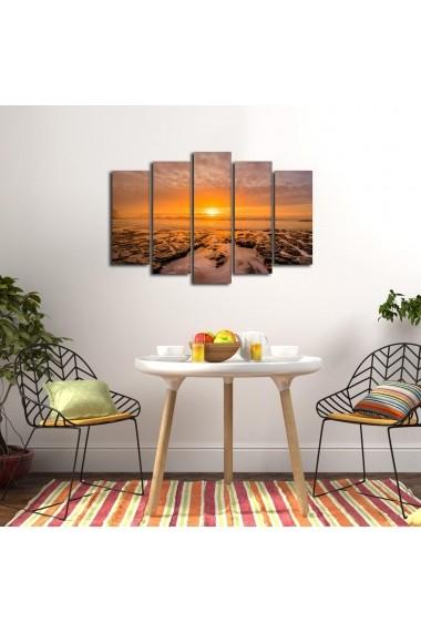 Tablou decorativ (5 bucati) Sightly 252SGH1321 multicolor