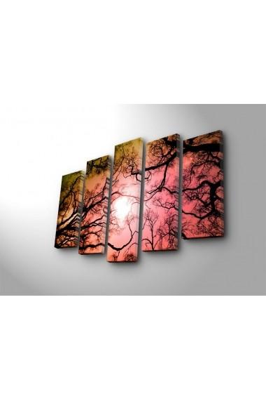 Tablou decorativ (5 bucati) Sightly 252SGH1329 multicolor
