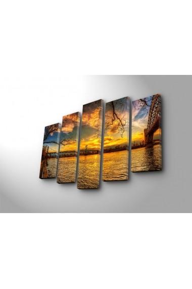 Tablou decorativ (5 bucati) Sightly 252SGH1348 multicolor