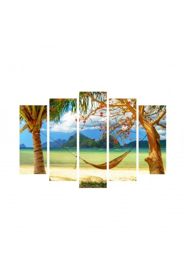 Tablou decorativ (5 bucati) Sightly 252SGH1349 multicolor