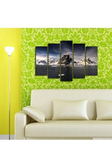 Tablou decorativ (5 bucati) Sightly 252SGH1306 multicolor